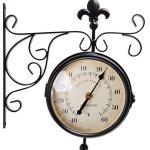 Esschert-Design-Plastic-Station-Clock-and-Thermometer-0-1
