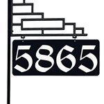 Extra-Large-Contemporary-Reflective-911-Yard-Address-Sign-6-Numbers-on-Both-Sides-0-0
