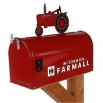 Farmall-McCormick-Model-M-Rural-Mailbox-with-Topper-Red-0