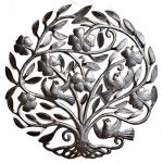Flower-Tree-of-Life-Haiti-Metal-Wall-Art-Sculpture-Steel-Drum-225-X-23-0