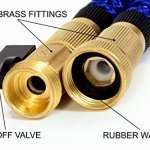 GENIUSWAY-100-Feet-Expandable-Fabric-Garden-Hose-with-Adjustable-Sprayer-and-Solid-Brass-End-Blue-0-1