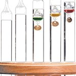 Galileo-Thermometer-Wall-Mount-5-Tube-Design-Solid-Oak-Frame-0-0