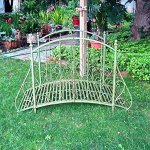 Garden-Bridge-375-Tall-Iron-Rustic-Green-Finish-Garden-Decor-0