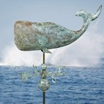 Good-Directions-505V1-37-Inch-Whale-Weathervane-Blue-Verde-Copper-0-0