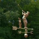 Good-Directions-561P-Golfer-Weathervane-Polished-Copper-0-1