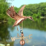 Good-Directions-9605P-Landing-Duck-Weathervane-Polished-Copper-0-1