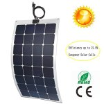 GreeSonic-SunPower-Semi-Flexible-Solar-Panel-100W-ETFEAluminum-Photovoltaic-Solar-Panel-Thermostable-with-MC4-connectors-0