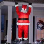 Home-Accents-Holiday-65-ft-Inflatable-Airblown-Santa-Hanging-from-Roof-0