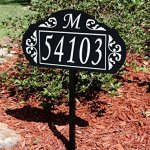 Le-Paris-Garden-Reflective-911-Home-Address-Sign-for-Yard-Custom-Made-Address-Plaque-with-Monogram-Great-Gift-Exclusively-By-Address-America-0