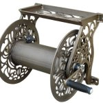 Liberty-Garden-Products-Decorative-Non-Rust-Cast-Aluminum-Wall-Mounted-Garden-Hose-Reel-With-125-Foot-Capacity-Antique-Finish-704-0