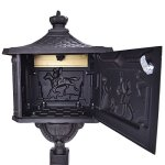 Mailboxes-With-Locks-Vintage-Heavy-Duty-Mailbox-Postal-Box-Security-Cast-Aluminum-Vertical-Pedestal-Bronze-Color-0-0
