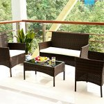 Merax-4-PC-Outdoor-Garden-Rattan-Patio-Furniture-Set-Cushioned-Seat-Wicker-Sofa-0-0