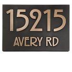 Modern-Stickley-Address-Plaque-No-Border-125×875-Raised-Bronze-Coated-0