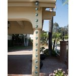 Monarch-85-ft-Copper-Hammer-Cup-Rain-Chain-with-Green-Patina-0-0