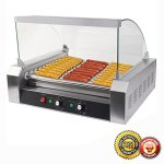 New-30-Hot-Dog-11-Roller-Grill-Commercial-Cooker-Machine-0-0