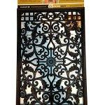 Nuvo-Iron-RECTANGLE-DECORATIVE-GATE-FENCE-INSERT-ACW61-FencingFence-GatesHome-0