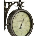Outdoor-Waterproof-8-Double-Sided-Clock-And-Thermometer-Indoor-Rustic-Charleston-Clock-0-0