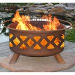 Patina-Crossfire-31-Inch-Fire-Pit-with-Grill-and-FREE-Cover-0