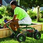 Plow-Hearth-Rolling-Scoot-N-Do-Garden-Seat-Powder-Coated-Tubular-Steel-Green-54L-x-17L-x-27H-0-0