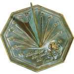Rome-2320-Rose-Sundial-Solid-Brass-with-Verdigris-Highlights-85-Inch-Diameter-0