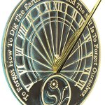 Rome-2325-Gardeners-Reflection-Sundial-Solid-Brass-with-Verdigris-Highlights-10-Inch-Diameter-0