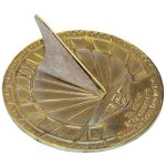 Rome-2347-Hourglass-Sundial-Solid-Brass-with-Verdigris-Highlights-85-Inch-Diameter-0