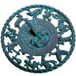 Rome-2577-Astro-Sundial-Cast-Iron-with-Verdigris-Finish-115-Inch-Diameter-0