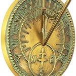 Rome-Industries-2310-Roman-Sundial-Solid-Brass-with-Light-Verdi-Highlights-8-Inch-Diameter-0
