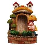 SINTECHNO-Cute-Gnome-and-Bonsai-Tabletop-Water-Fountain-0