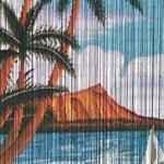 Sail-Boat-Print-Beaded-Bamboo-Curtain-36W-x-78H-0