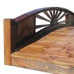 SamsGazebos-Sunburst-Wood-Garden-Bridge-6-Feet-Brown-0-0