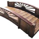 SamsGazebos-Sunburst-Wood-Garden-Bridge-6-Feet-Brown-0