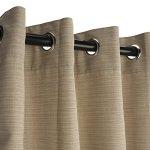 Sunbrella-Outdoor-Curtain-with-Nickel-Grommets-Dupione-Sand-0