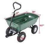 UenJoy-Heavy-Duty-660-lb-Garden-Dump-Cart-Dumper-Wagon-Carrier-Utility-Wheelbarrow-Air-Tires-0-1