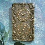 Whitehall-Products-Acanthus-Combo-Clock-Copper-Verdi-0