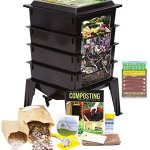 Worm-Factory-360-Worm-Composting-Bin-Bonus-What-Can-Red-Wigglers-Eat-Infographic-Refrigerator-Magnet-Vermicomposting-Container-System-Live-Worm-Farm-Starter-Kit-for-Kids-Adults-0