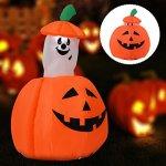 Youzee-4FT-Halloween-Inflatable-UpDown-Ghost-Pumpkin-YardIndoor-Decor-Lighted-Blow-up-0-0