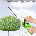 Premium-Hedger-Grass-Clippers-Cordless-Hedger-Battery-Power-Trimmer-Bushes-Cordless-Yard-Trimmer-Electric-Shrub-Trimmer-Rechargeable-Battery-Charge-Time-4-Hrs-18V-Perfect-For-Hedges-Shrubs-0