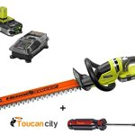 Toucan-city-Ryobi-P2660-ONE-Lithium-22-in-18-Volt-Lithium-Ion-Cordless-Hedge-Trimmer-EXLUSIVE-Slotted-Screwdriver-15-Ah-Battery-and-Charger-included-0