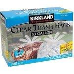 2-Wholesale-Lots-Kirkland-Signature-Clear-Trash-Bags-33-Gallon-Bags-400-Garbage-Bags-Total-0
