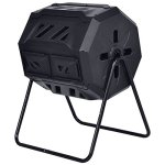 42-Gallon-Compost-Tumbler-Garden-Waste-Bin-Grass-Food-Trash-Barrel-Fertilizer-Black-0