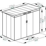 4X7-Outdoor-Garden-Storage-Shed-Tool-House-Sliding-Door-Metal-Dark-Gray-New-0-5