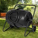 AK-Energy-50-Gallon-Wheeled-Compost-Tumbler-Garden-Waste-Bin-Grass-Trash-Barrel-Fertilizer-Mobility-0