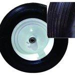 Bon-28-706-Premium-Contractor-Grade-Poly-Tray-Single-Wheel-Wheelbarrow-with-Wood-Handle-and-Ribbed-Tire-5-34-Cubic-Feet-0