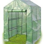 By-Garden-Essentials-MIni-Greenhouse-Compact-Portable-8-Shelves-2-Tiers-Walk-In-Zippered-Door-Color-Green-0