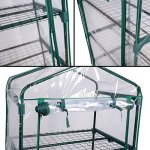 COSTWAY-4-Tier-Shelves-Mini-63-Portable-Greenhouse-Outdoor-Green-Plants-House-Only-by-eight24hours-0-1