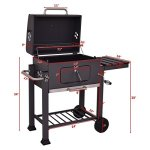 COSTWAY-Charcoal-Grill-Barbecue-BBQ-Grill-Outdoor-Patio-Backyard-Cooking-Wheels-Portable-Only-By-eight24hours-FREE-E-Book-0-0