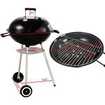 Charcoal-Grill-BBQ-Outdoor-Backyard-Cooking-with-Wheels-Black-225-Inch-0-1