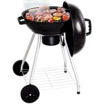 Custpromo-185-Portable-Charcoal-Grill-BBQ-Cooking-Kettle-with-Wheels-for-Backyard-Tailgate-Party-Camping-0-0