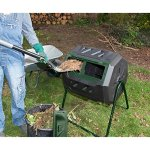 Exaco-Mr-Spin-43-Gallon-Stationary-Compost-Tumbler-0